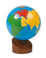 Jordglob världsdelarna